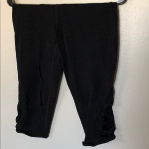 Black cropped leggings
